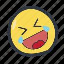 colored, emoji, emoticon, rotfl icon