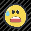 colored, emoji, emoticon, worried icon