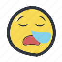 colored, emoji, emoticon, snoring emoji icon