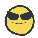 colored, cool emoji, emoji, emoticon icon