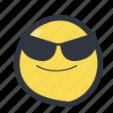 colored, cool emoji, emoji, emoticon icon