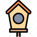 bird, birdhouse, nature, village icon