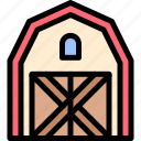 barn, farm, nature, village icon