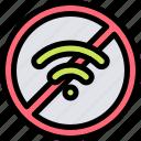internet, nature, no, village icon
