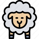 animal, nature, sheep, village, wool icon
