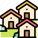 house, houses, nature, village icon