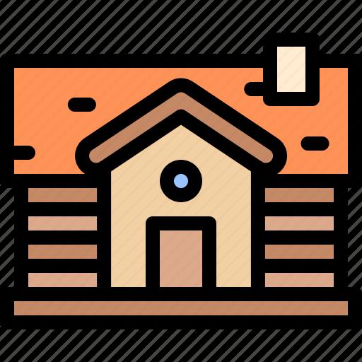 cabin, house, nature, village icon