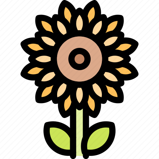 farm, nature, sunflower, village icon