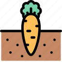carrot, farm, nature, village icon