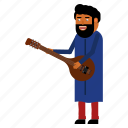character, guitar, hindu, india, man, musician icon