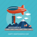 air balloon, cloud, holiday, independence, mountain, state, usa icon