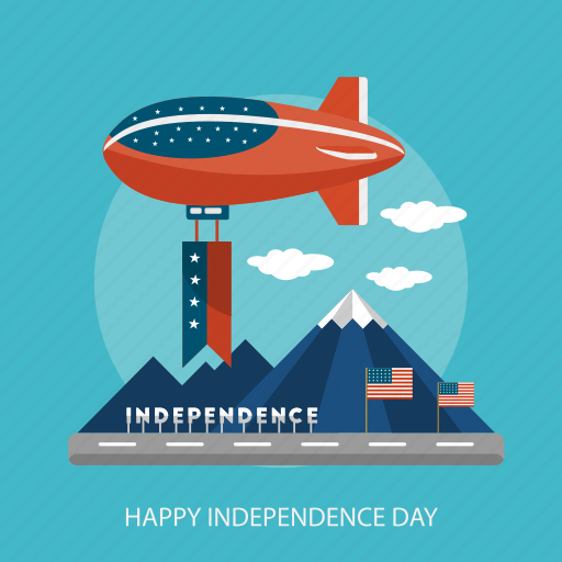 Mountain, usa, air balloon, state, independence, holiday, cloud icon