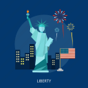 building, city, holiday, independence, liberty, monument, usa icon