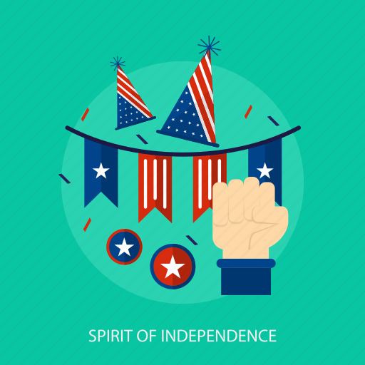 flag, hand, holiday, independence, spirit, state, usa icon