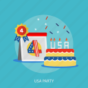 cake, candle, festival, holiday, independence, party, usa icon