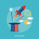 cloud, holiday, independence, rocket, state, sun, usa icon