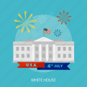 building, flag, holiday, independence, state, usa, white house icon