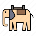 africa, animal, elephant, indian icon