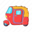 asia, cartoon, india, rickshaw, taxi, transport, vehicle icon