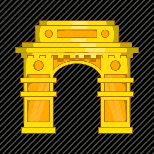 architecture, asia, cartoon, delhi, gate, india, landmark icon