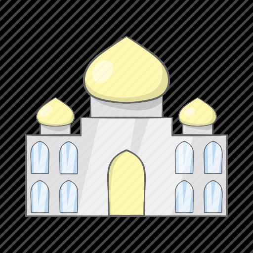 agra, cartoon, dome, india, monument, palace, taj icon