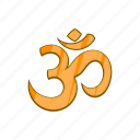 cartoon, hindu, hinduism, om, religion, religious, yoga icon