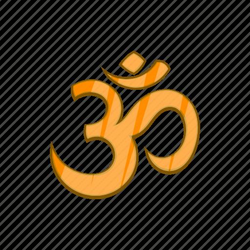 cartoon, hindu, hinduism, om, religion, religious, yoga icon