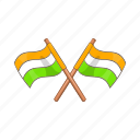 cartoon, country, flag, illustration, india, nation, national icon