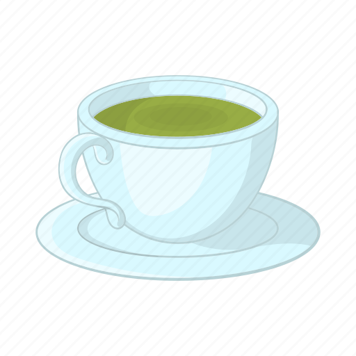 cartoon, drink, dry, green, herbal, india, tea icon