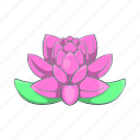 cartoon, flower, india, lily, lotus, pink, plant icon