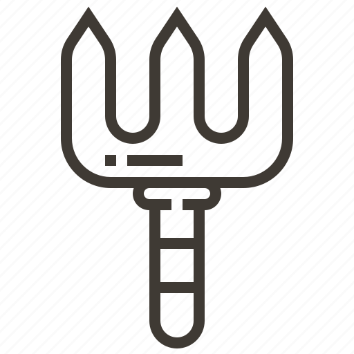 garden, gardening, pitch fork icon