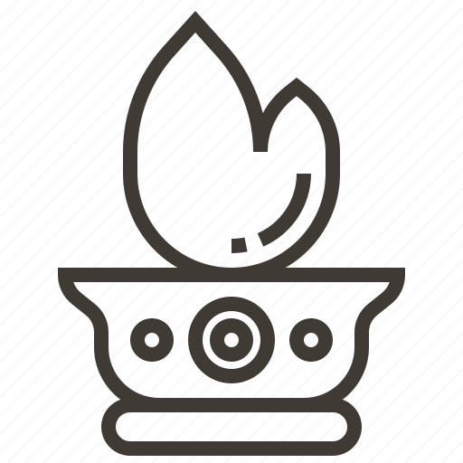 fire, flame, india, lamp icon