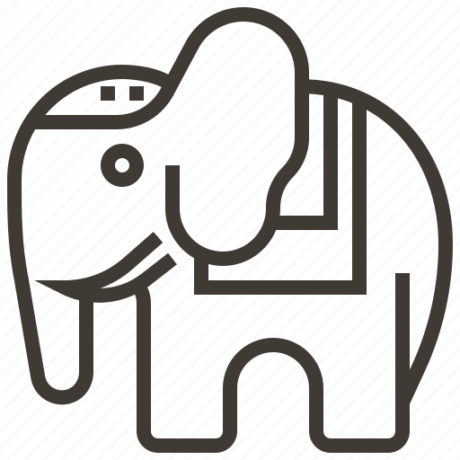 animal, elephant, mammal icon