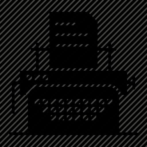 fax, machine, print, printer icon