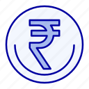 business, currency, finance, indian, inr, rupee, trade icon
