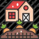 carrot, farming, organic icon