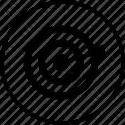 bullseye, dart, dartboard, game, sports, target icon