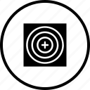 circle, game, illusion, mission, shoot, target icon