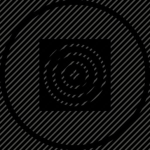 circle, game, illusion, mission, shoot, target icon