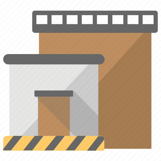 commercial building, godown, inventory, storage unit, warehouse icon