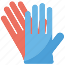 gloves, hand gloves, leather gloves, rubber gloves, safety gloves icon