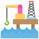 offshore drilling, offshore engineering, offshore oil rig, offshore platform, petroleum production icon