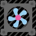 blower, computer fan, cooling fan, exhaust fan, ventilation icon