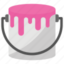 paint, paint brush, paint bucket, paint can, painting icon