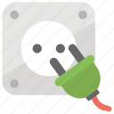 electricity, plug, power cord, power plug, power supply icon