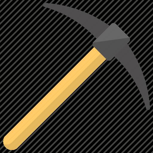 digging tool, mason tool, mining tool, pickaxe, soil digger icon