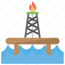 oil industry, oil platform, oil refinery, oil rig, petroleum refinery icon