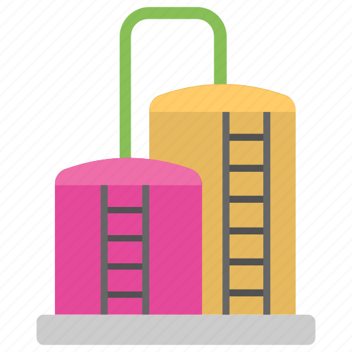 chemical storage, liquid containers, refinery, storage tank, water storage tank icon