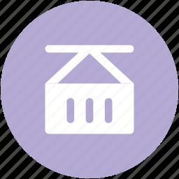 container cargo, crane loading, crane loading cargo, loading container, shipping icon