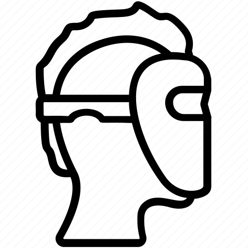 headgear, protective mask, safeguard mask, welder helmet, welding mask icon